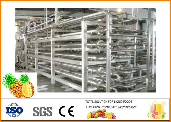 Automatic Pineapple Juice Processing Line 304 Stainless Steel Energy Saving