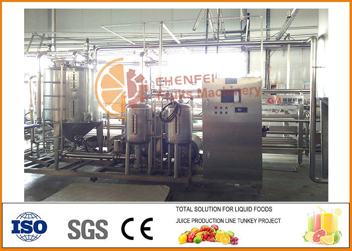 1T/h SS304 Tube in tube Juice and Paste Sterilizing Machine