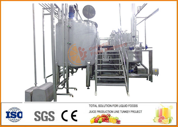 500T/Year Food Fermentation Equipment Fruit Wine Drink PLC Control System