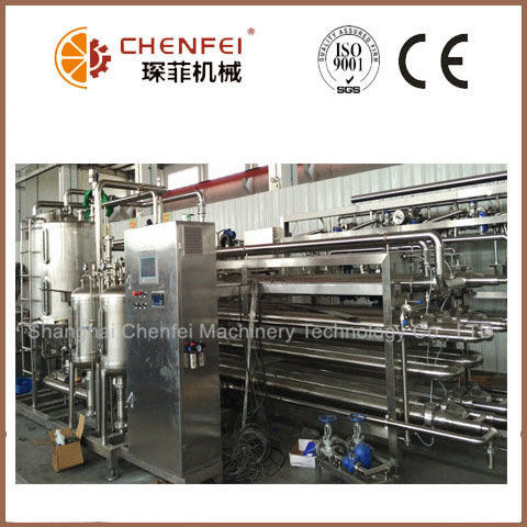 SS304 Sterilizer Machine Jam Tubular In Tube Sterilizating System ISO9001