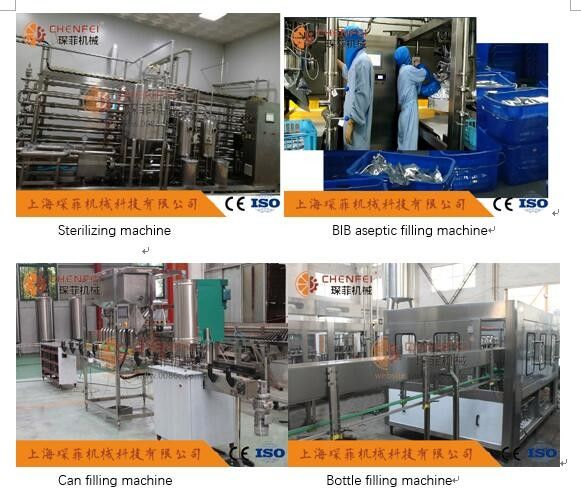 Citrus Orange Juice Beverage Processing Plant Aseptic Carton Bottle Type